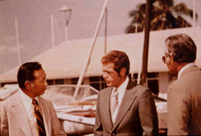 Harry Endo, James MacArthur and Herman Wedemeyer