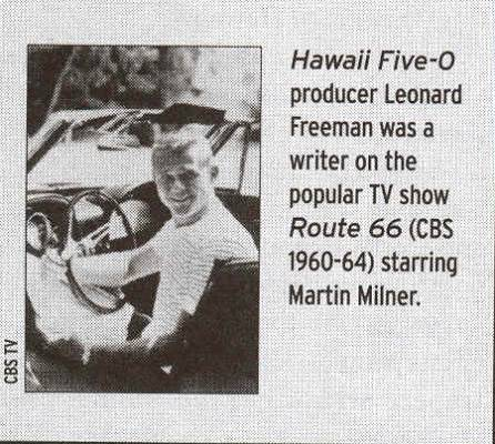 Martin Milner from Route 66. A Leonard Freeman production