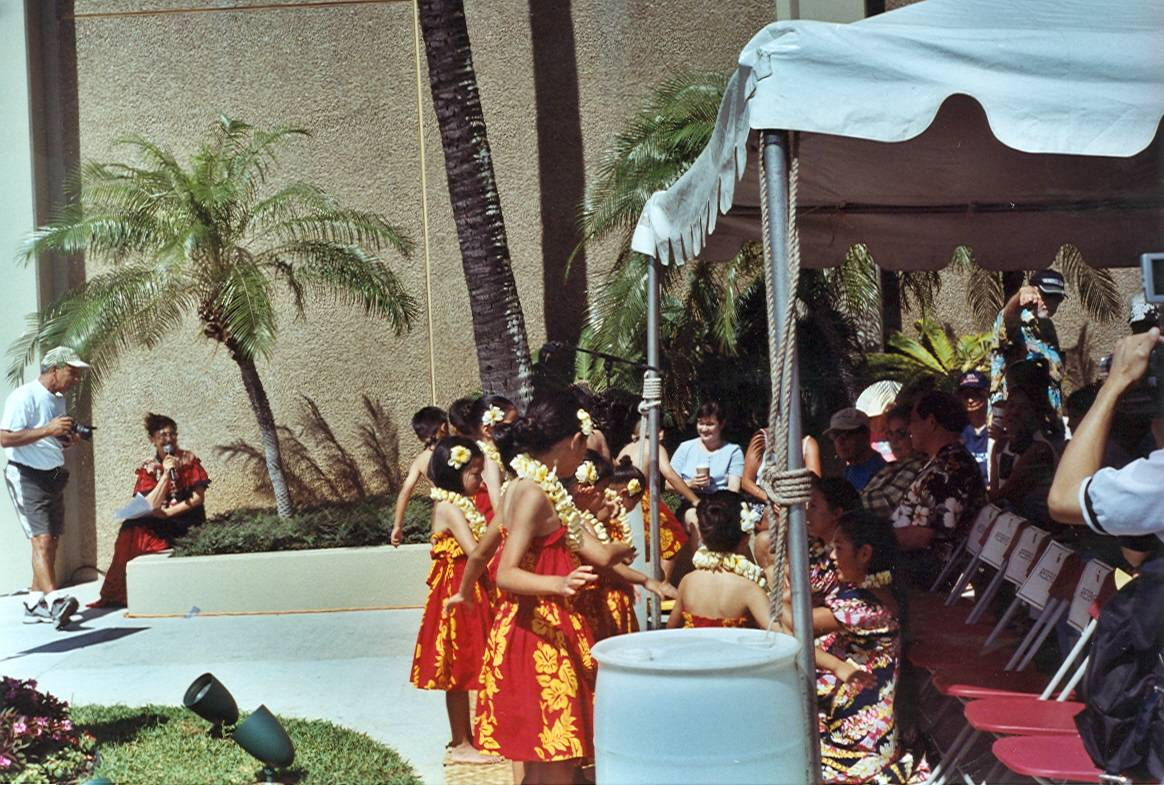side view of the dancers