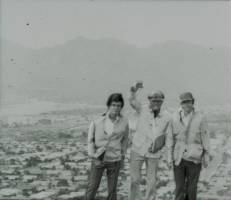 Jack and two men on the Pali lookout